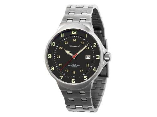 Greiner Titan Armbanduhr Jagduhr 1219 E