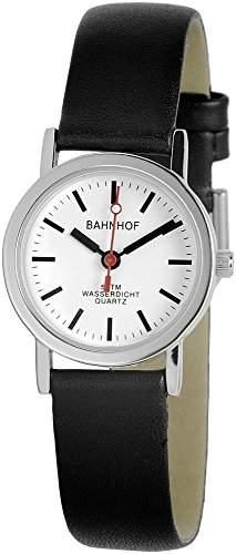 Bahnhof Damenuhr Weiss Silber Analog Metall Armbanduhr Mode Fashion Trend Uhr