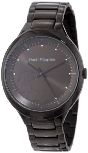 Hush Puppies Orbz WomenAutomatik-Uhr mit schwarzem Zifferblatt Analog-Anzeige und Schwarz-Edelstahl-Armband HP3784L1502