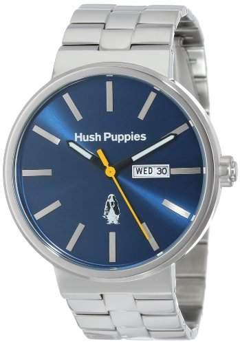 Hush Puppies Orbz Herren Automatik Uhr mit Blau Zifferblatt Analog-Anzeige und Silber Edelstahl Armband HP 3792m1503