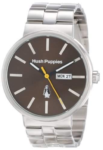 Hush Puppies Orbz MenAutomatik mit braunem Zifferblatt Analog-Anzeige und Silber-Edelstahl-Armband HP 1517 3792 m
