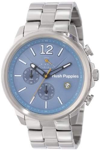 Hush Puppies Orbz MenAutomatik Armbanduhr mit blauem Zifferblatt Analog-Anzeige und Silber-Edelstahl-Armband HP 11503 6065 m