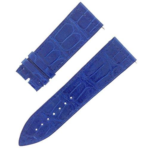Franck Muller 08 C 24 22 mm echt Alligator Leder blau glaenzend Armbanduhr Band