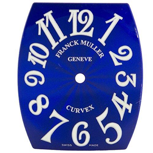 Franck Muller cintree curvex 23 x 28 mm Blau Zifferblatt fuer Frauen Armbanduhr