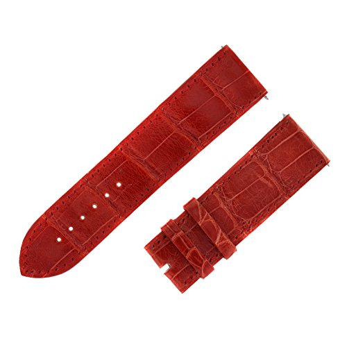 Franck Muller Geneve cousu Main 24 22 mm rot Alligator Uhrenarmband Leder Band