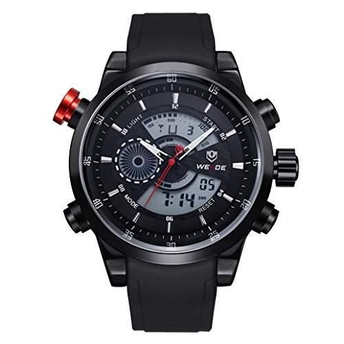 Herren Freizeit Sport Armbanduhr Quartz Digital LED Hintergrundbeleuchtung 30M wasserdicht WH-3401#3