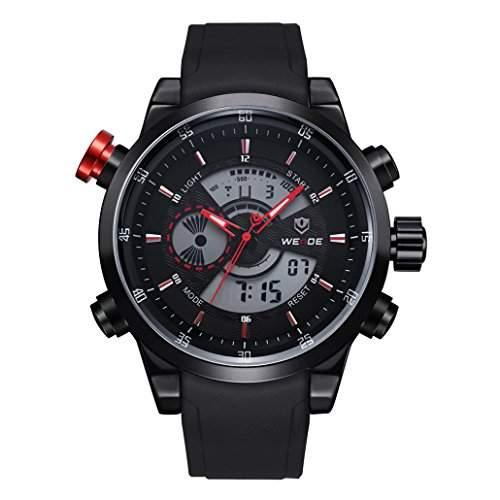 Herren Freizeit Sport Armbanduhr Quartz Digital LED Hintergrundbeleuchtung 30M wasserdicht WH-3401#4