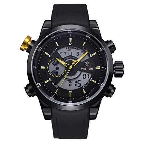Herren Freizeit Sport Armbanduhr Quartz Digital LED Hintergrundbeleuchtung 30M wasserdicht WH-3401#5