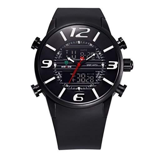 Herren Multifunktion Sport Armbanduhr Quartz Analog-Digital 30M wasserdicht WH-3402#1