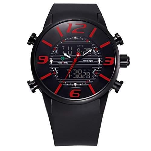 Herren Multifunktion Sport Armbanduhr Quartz Analog-Digital 30M wasserdicht WH-3402#2