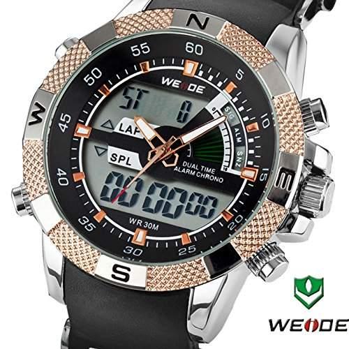 Weide Armbanduhr WH1104-RW, casual, weißes Zifferblatt, Digitalanzeige