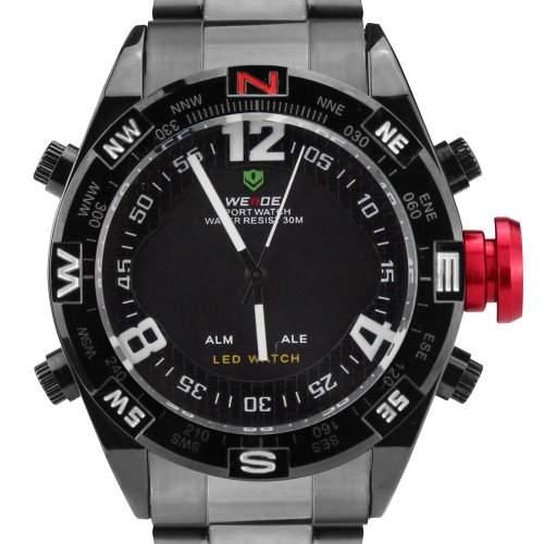 WEIDE Herren-Armbanduhr Schwarz WH-2312-BY