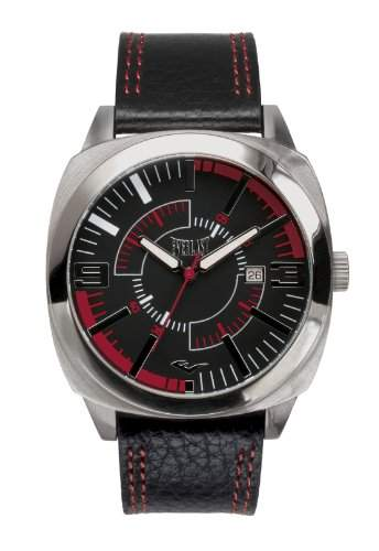 Everlast Herren Armbanduhr 33-219 Analog Leder schwarz EV-219-001