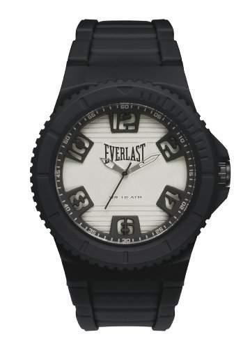 Everlast MenHerren-Armbanduhr 17251562 Analog-Anzeige und Schwarz PU Strap EV - 223-002