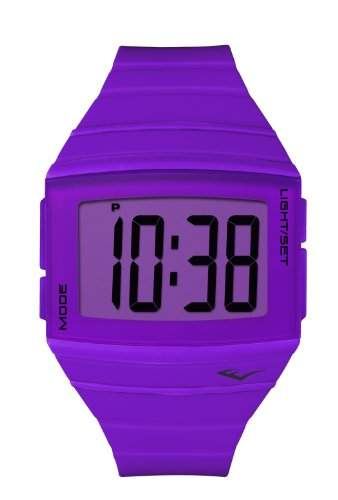 Everlast 501-004-EV-Beleuchtung-Digital-Armbanduhr Analog Kunststoff Violett