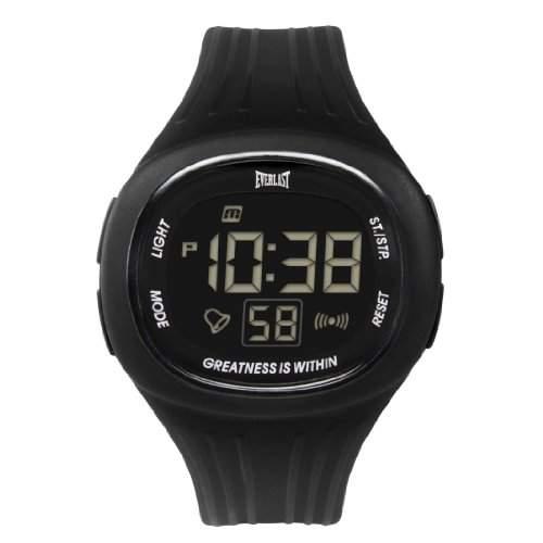 Everlast Unisex Armbanduhr 33-502DG Digital Automatik Kunststoff schwarz EV-502-105