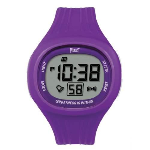 Everlast Unisex Armbanduhr 33-502DG Digital Quarz Kunststoff violett EV - 502-106