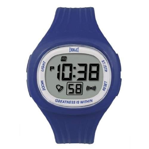 Everlast Unisex-Armbanduhr 33-502DG Digital Automatik Kunststoff blau EV-502-108