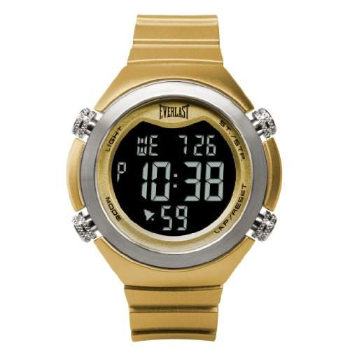 Everlast-EV - 503-007-Armbanduhr, Digital, Stoppuhr, Countdown Timer, Stoppuhr, Alarm, Kunststoff, goldfarben