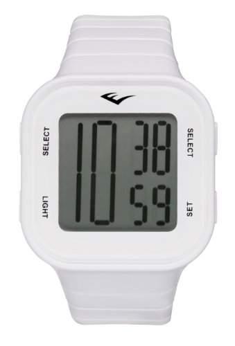 Everlast Unisex-Armbanduhr 33-504 Digital Quartz Kunststoff weiss EV-504-002
