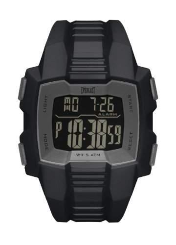 Everlast EV- 507- 001-Herren UHR-Digital-AlarmZeit von Zwischenprodukten-Armband PU schwarz