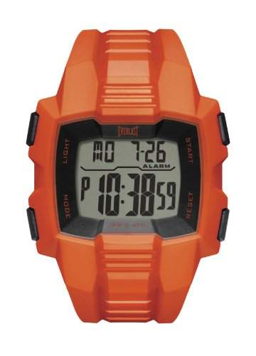 Everlast Mens Digital-Armbanduhr Digital 507-003 EV-Orange