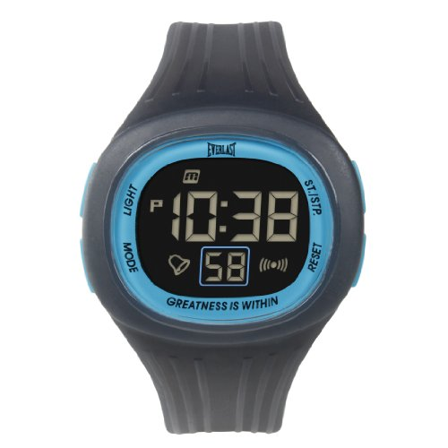 Everlast 33 502DG Unisex Digital Uhr mit LCD Zifferblatt Digital Display und grau Kunststoff oder PU Strap ev 502 104