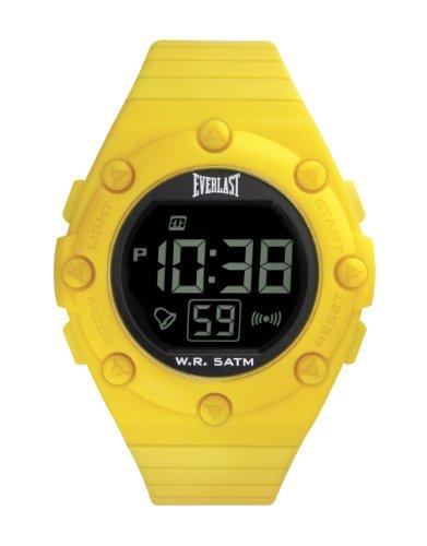 Everlast Unisex Digital Uhr mit LCD Zifferblatt Digital Display und Gelb PU Gurt ev 506 002