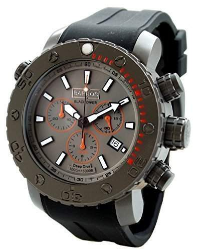 BARBOS BLACK DIVER Chronograph Taucheruhr 1000 Meter Diver Watch