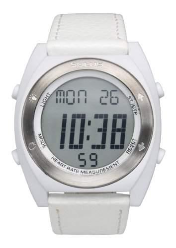 Solus Unisex-Armbanduhr Digital Quartz Leder weiss SL-310-002
