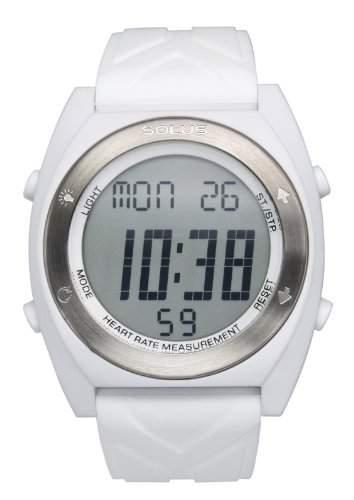 Solus-SL - 310-006-Armbanduhr, Digital-AlarmCountdownLichtStoppuhr Analog Silikon Weiss