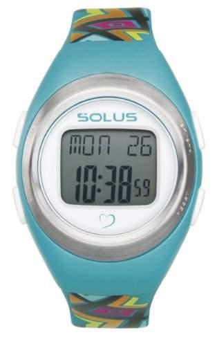 Solus Unisex-Digital-Armbanduhr mit LCD-Digitalanzeige und Armband aus blauem Kunststoff oder PU, SL-800-009