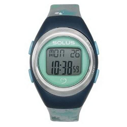 SOLUS SL-800-012 Unisex Digitaluhr silberfarben mit Tages- und Datumsanzeige und Hingergrundbeleuchtung sowie PU-Armband