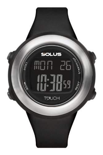 Solus SL- 850- - 001-Armbanduhr, Digital-AlarmCountdownStoppuhrLicht-Armband PU schwarz