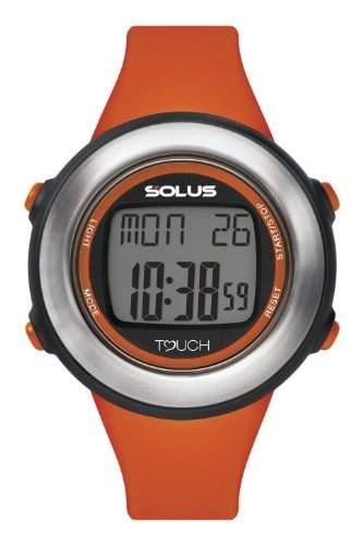 Solus - 002 SL- 850--Armbanduhr, Digital-AlarmCountdownStoppuhrLicht PU-Armband, Orange