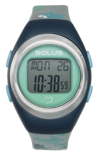 Solus Unisex Digital Uhr mit LCD Zifferblatt Digital Display und Silber Kunststoff oder PU Strap SL 012