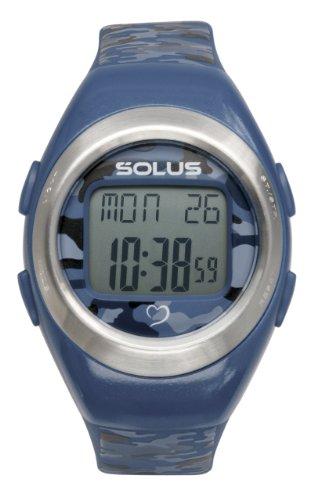 Solus Unisex Digital Uhr mit LCD Zifferblatt Digital Display und Blau Kunststoff oder PU Strap SL 103