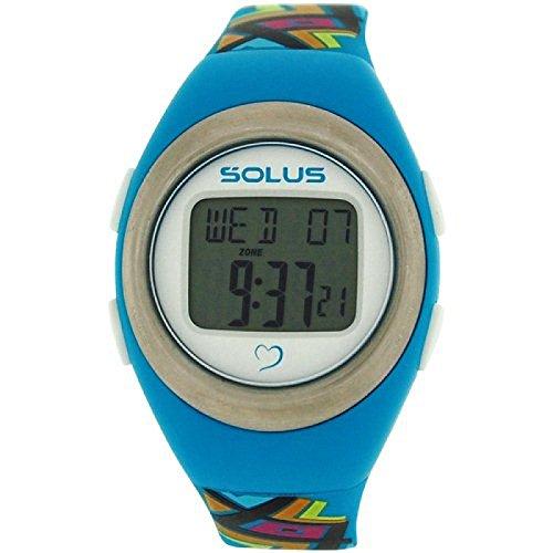 Solus unisex digitale Tagesdatum Herzfrequenz Uhr mehrf PU Armband SL 800 009