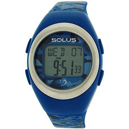 Solus unisex digitale Tagesdatum Herzfrequenz Uhr bl PU Armband SL 800 010