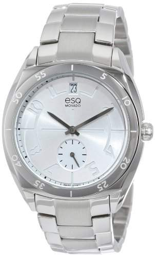 ESQ Movado Damen 07101400 esq ORIGIN tm Tonneau-Shaped Stainless Steel Uhr