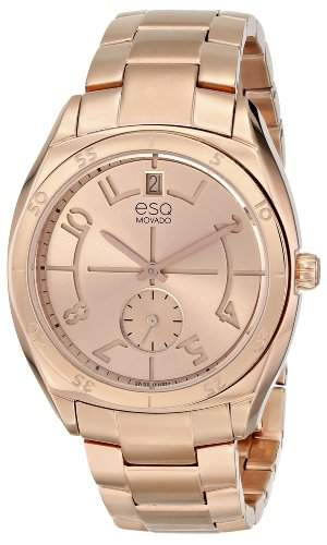 ESQ Movado Damen 07101402 esq ORIGIN tm Tonneau-Shaped Rose-Gold Plated Uhr