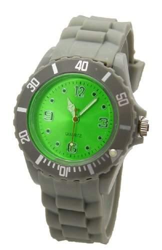 Armbanduhr Unisex Grau-Gruen fuer die Kalte Jahreszeit