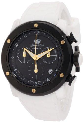 Glam Rock Damen GR50115 Aqua Rock Chronograph Black Dial Weiss Silikon Uhr