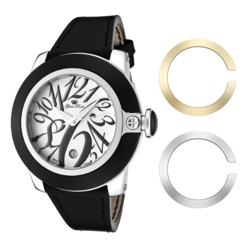Glam Rock Damen GR32083 SoBe White Dial Black Leather Uhr