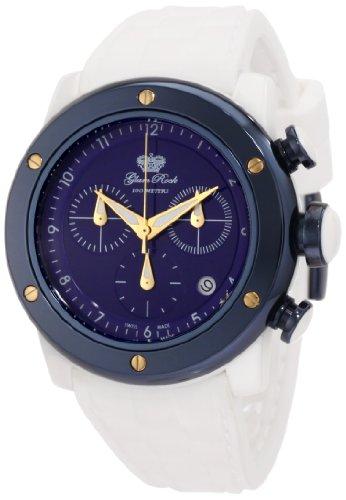 Glam Rock Damen GR50114 Aqua Rock Chronograph Blue Dial Weiss Silikon Uhr