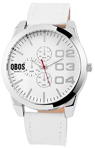 QBOS Analog Leder 50 mm Weiss RP3112200003