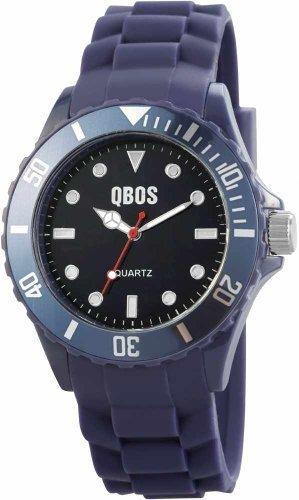 QBOS Herren Armbanduhr XL Analog Quarz Silikon RP3468300003