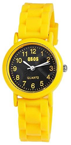 QBOS Watch Kinderuhr mit Silikonarmband analoge Teeny Armbanduhr