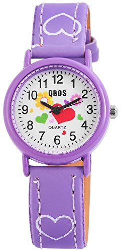 Qbos Kinderuhr Armbanduhr lila