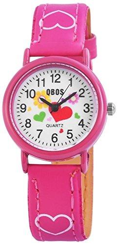 Qbos Kinderuhr Armbanduhr pink